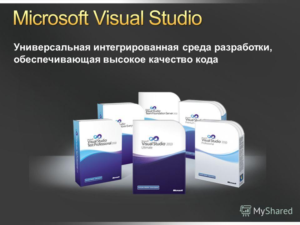Универсальная интегрированная среда разработки, обеспечивающая высокое качество кода