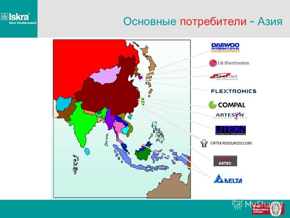 Основные потребители - Азия