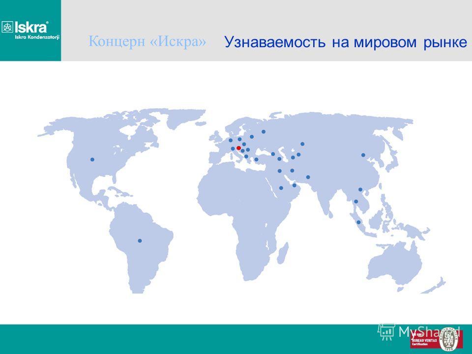 Узнаваемость на мировом рынке Концерн «Искра»
