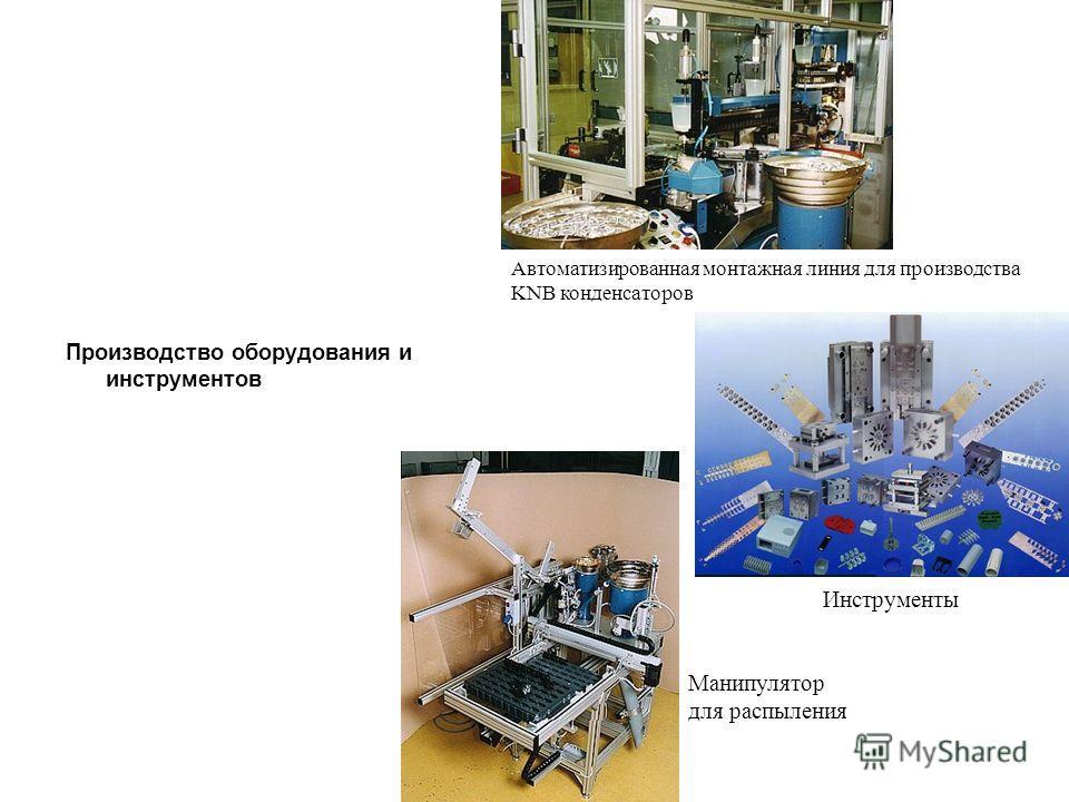 Производство оборудования и инструментов Автоматизированная монтажная линия для производства KNB конденсаторов Инструменты Манипулятор для распыления