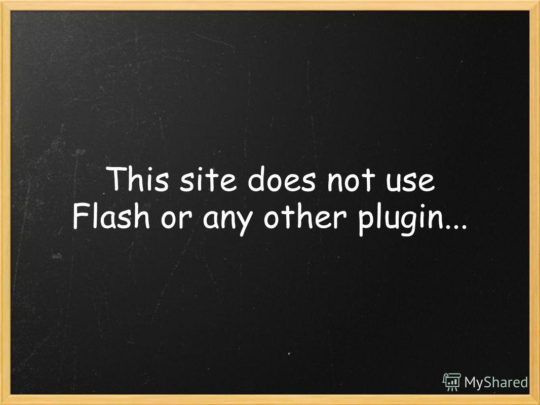 This site does not use Flash or any other plugin...