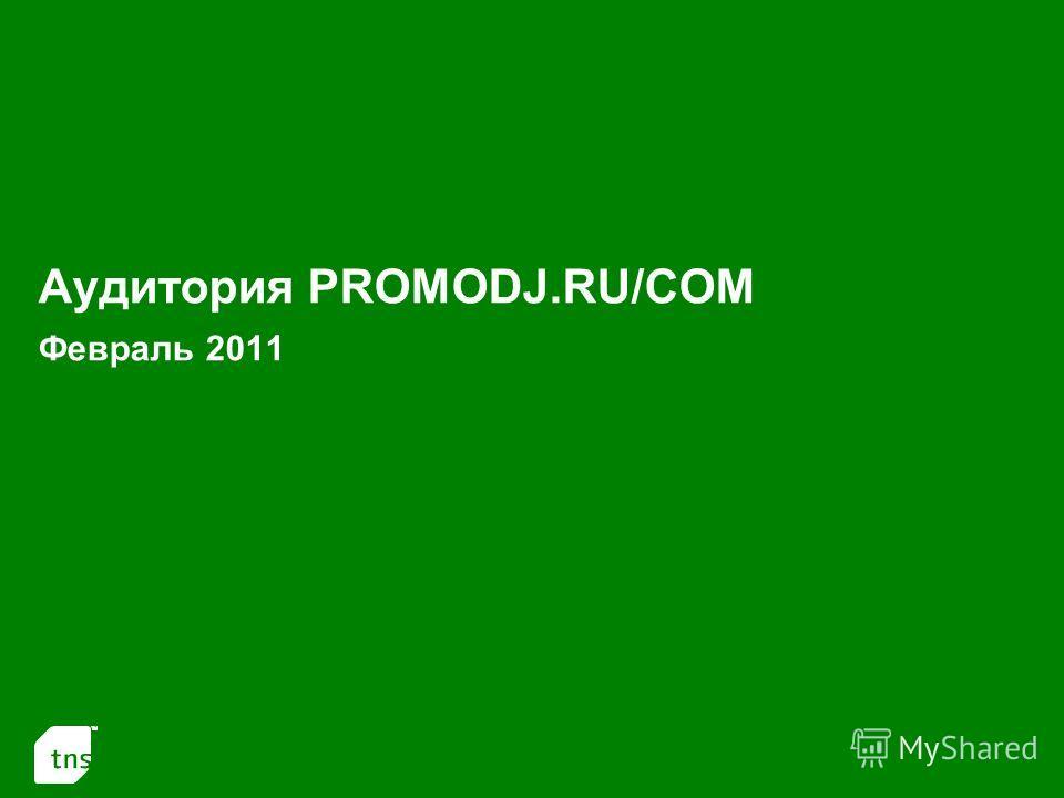 1 Аудитория PROMODJ.RU/COM Февраль 2011
