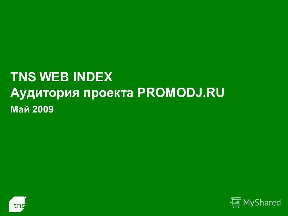 1 TNS WEB INDEX Аудитория проекта PROMODJ.RU Май 2009
