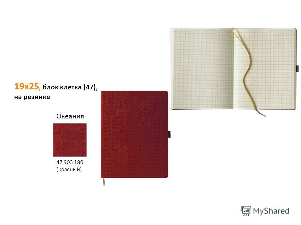 19х25, блок клетка (47), на резинке Океания 47 903 180 (красный)