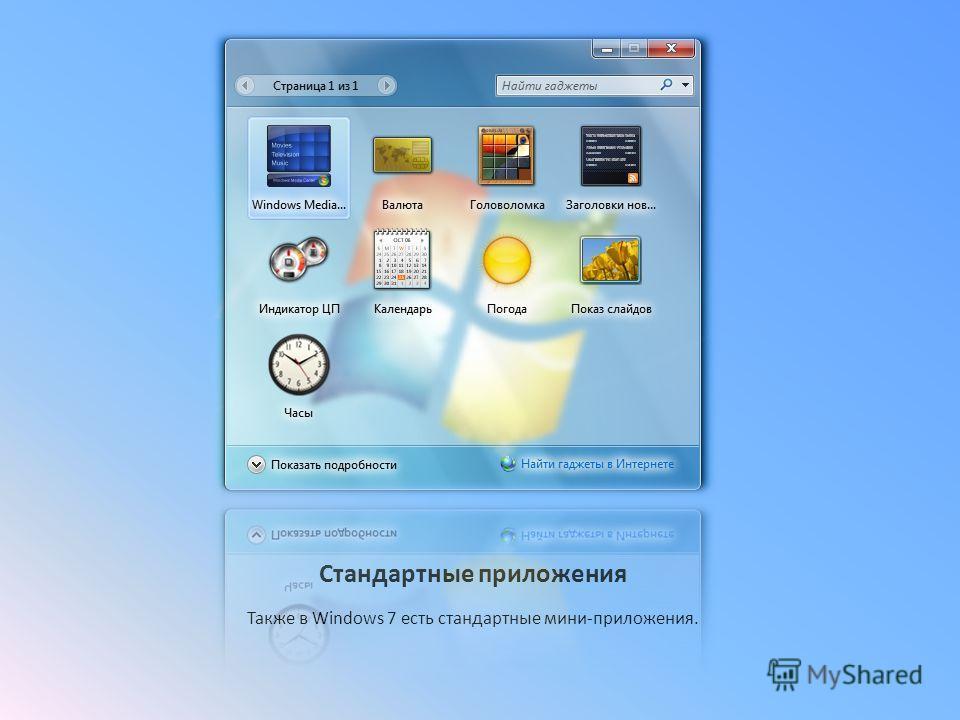 Боковая панель Боковая панель находится с права, на этом снимке вы можете увидеть что на нем размещены часы, погода, календарь…