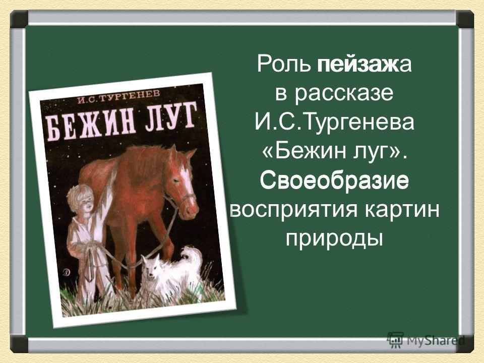 Роль пейзажа в рассказе И.С.Тургенева «Бежин луг». Своеобразие восприятия картин природы пейзаж Своеобразие