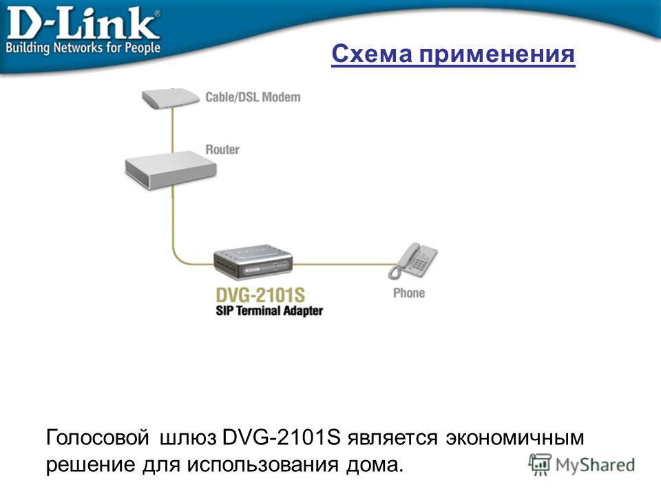 Схема применения Голосовой шлюз DVG-2101S является экономичным решение для использования дома.