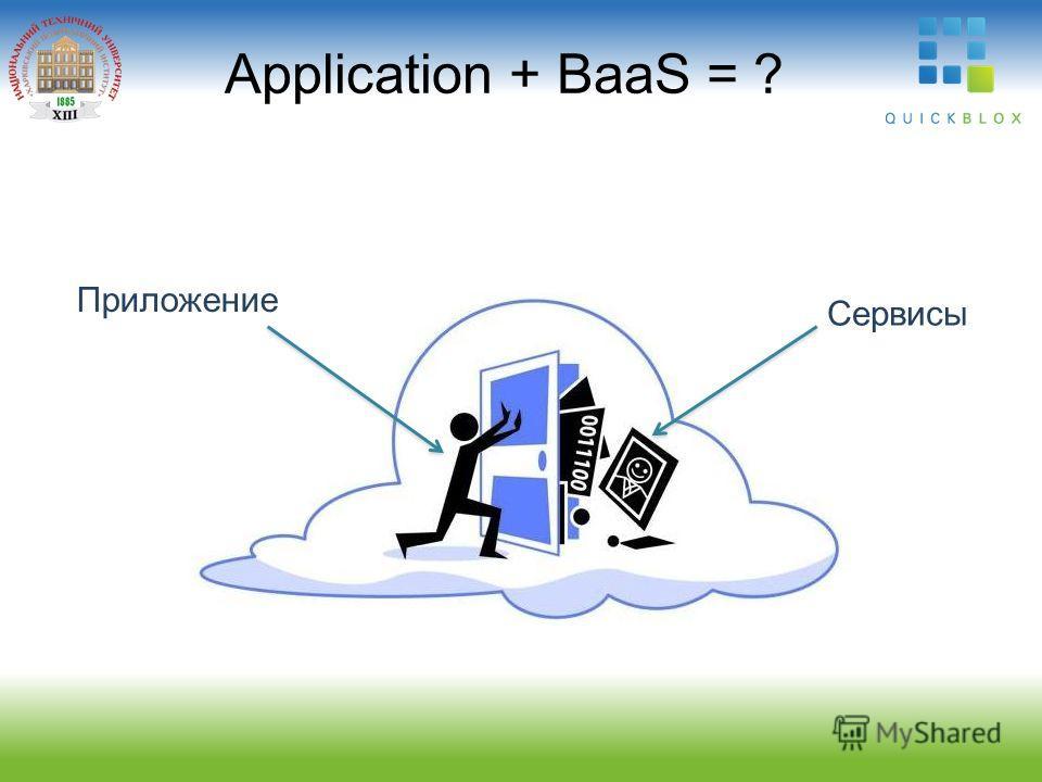 Application + BaaS = ? Приложение Сервисы