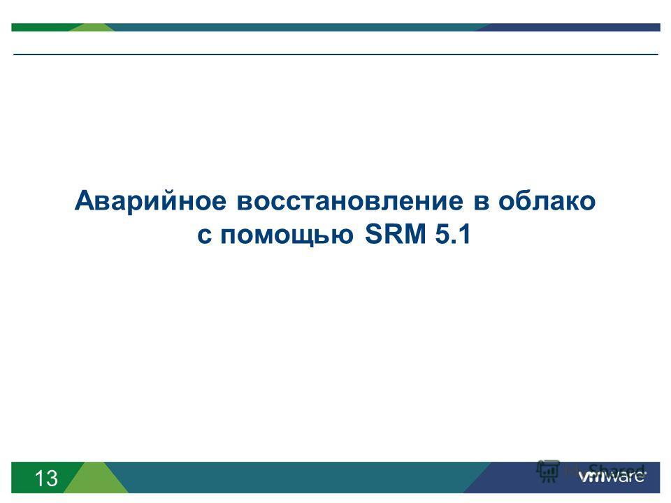 13 Аварийное восстановление в облако с помощью SRM 5.1