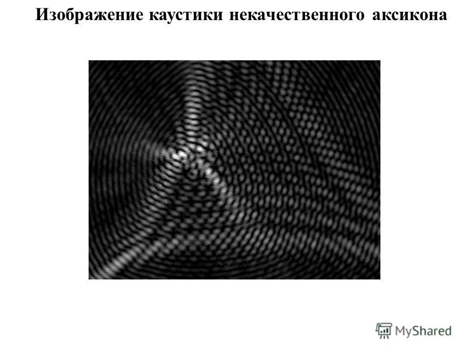 Изображение каустики некачественного аксикона