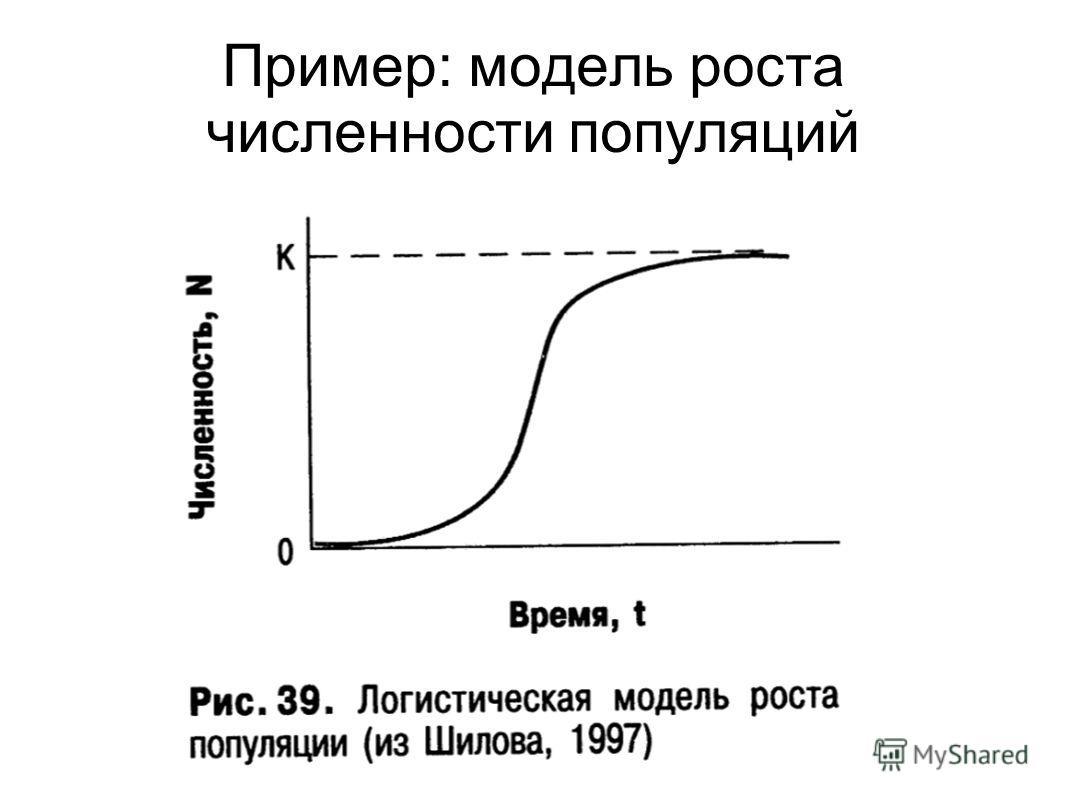 Пример: модель роста численности популяций