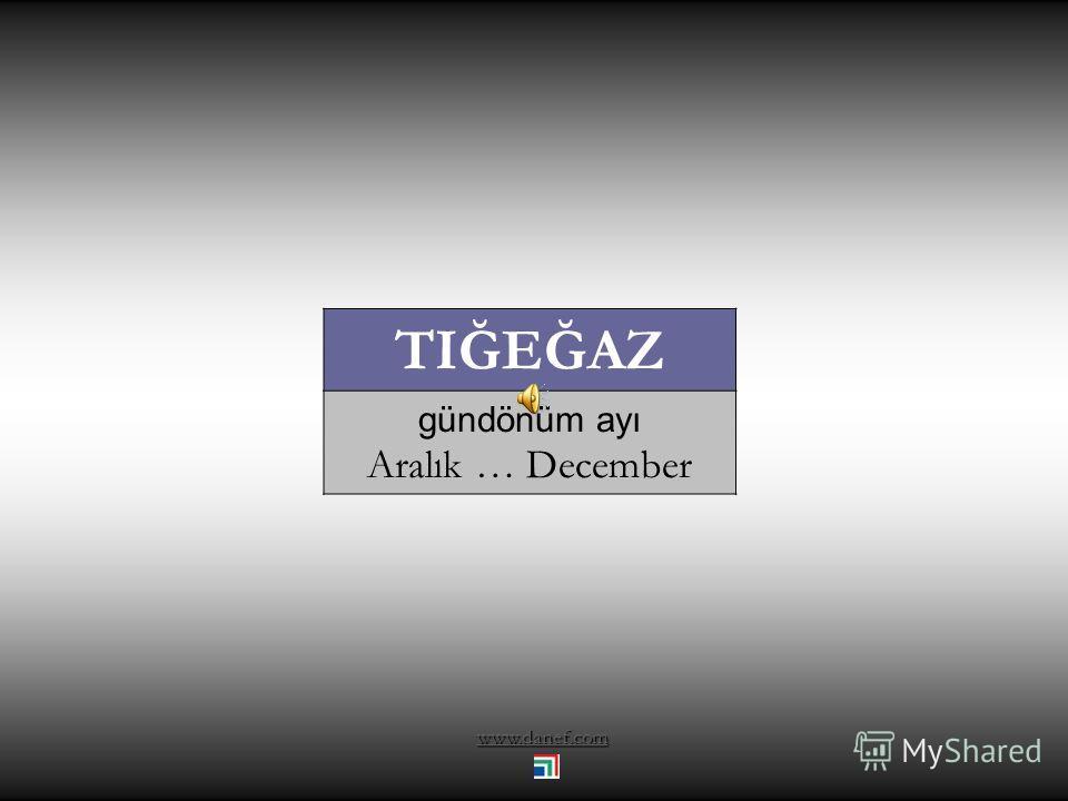 www.danef.com XEK'UWOĞU Av ayı Kasım … November