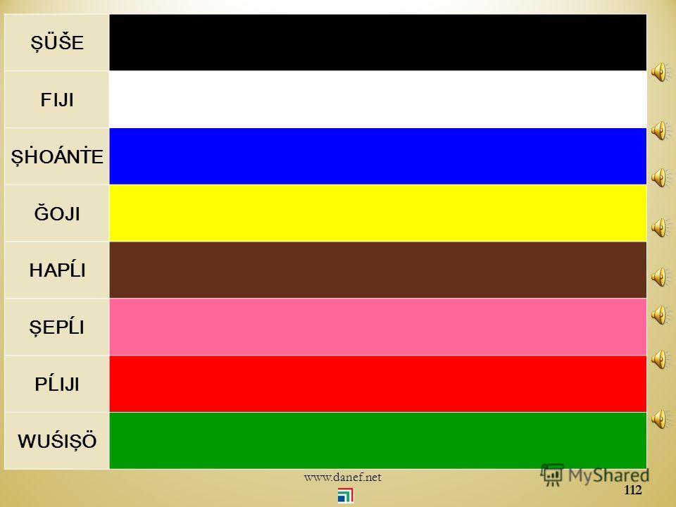 ŞÖXER renkler Renk tonları 111 www.danef.net