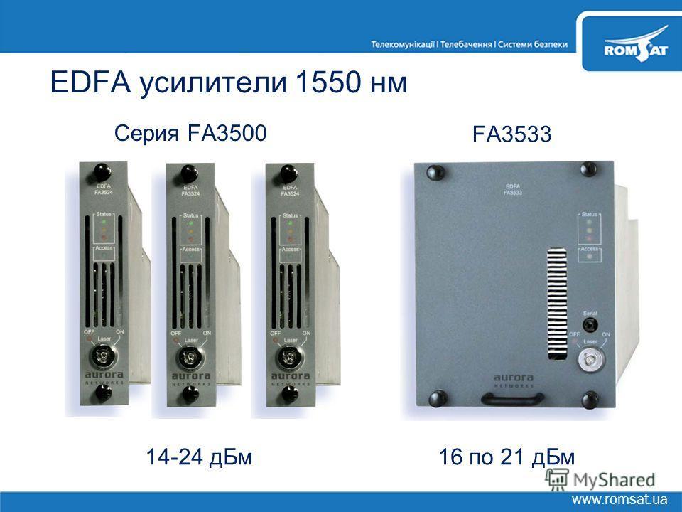 www.romsat.ua EDFA усилители 1550 нм Серия FA3500 FA3533 16 по 21 дБм14-24 дБм