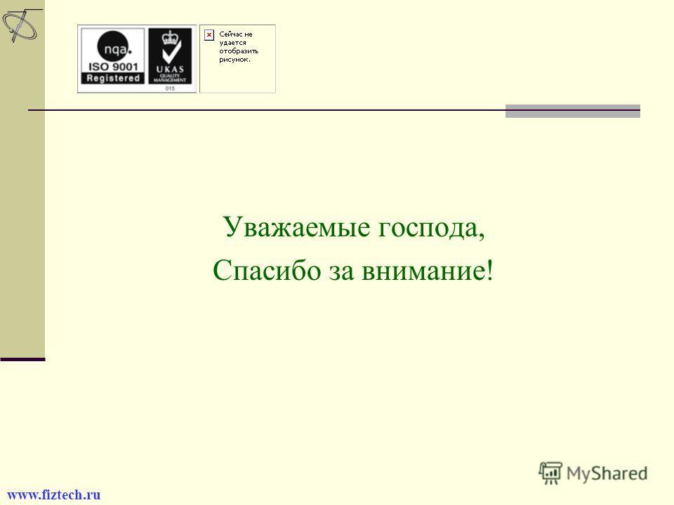 Финал. Уважаемые господа, Спасибо за внимание! www.fiztech.ru