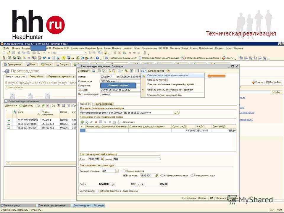 www.hh.ru Online Hiring Services 18 Техническая реализация Наименование
