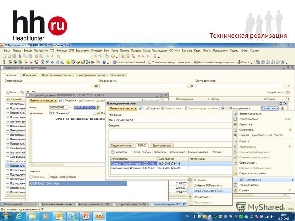 www.hh.ru Online Hiring Services 22 Техническая реализация