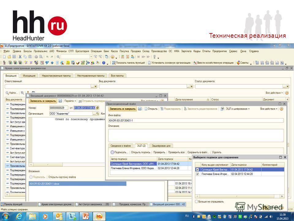 www.hh.ru Online Hiring Services 23 Техническая реализация