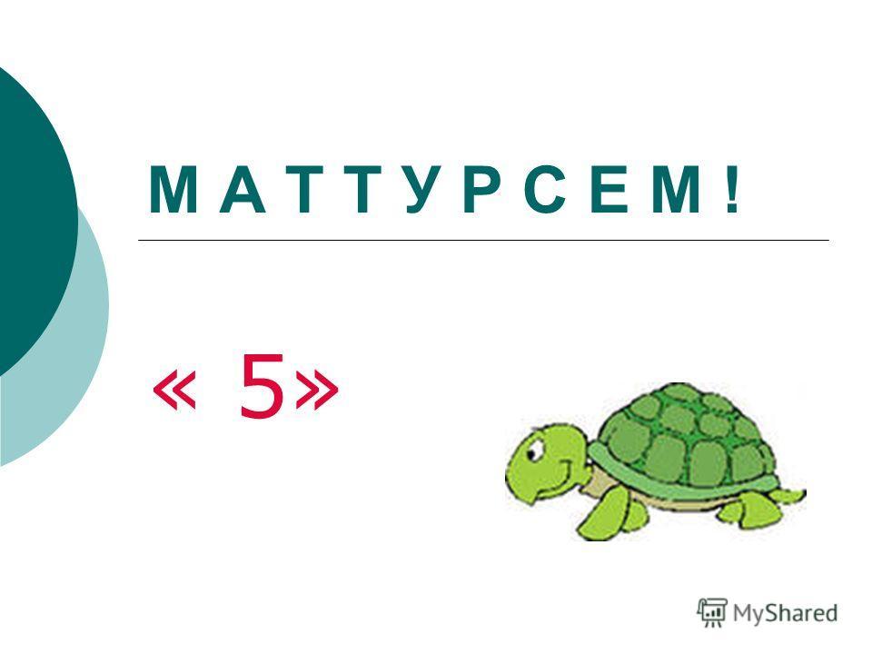 М А Т Т У Р С Е М ! « 5»
