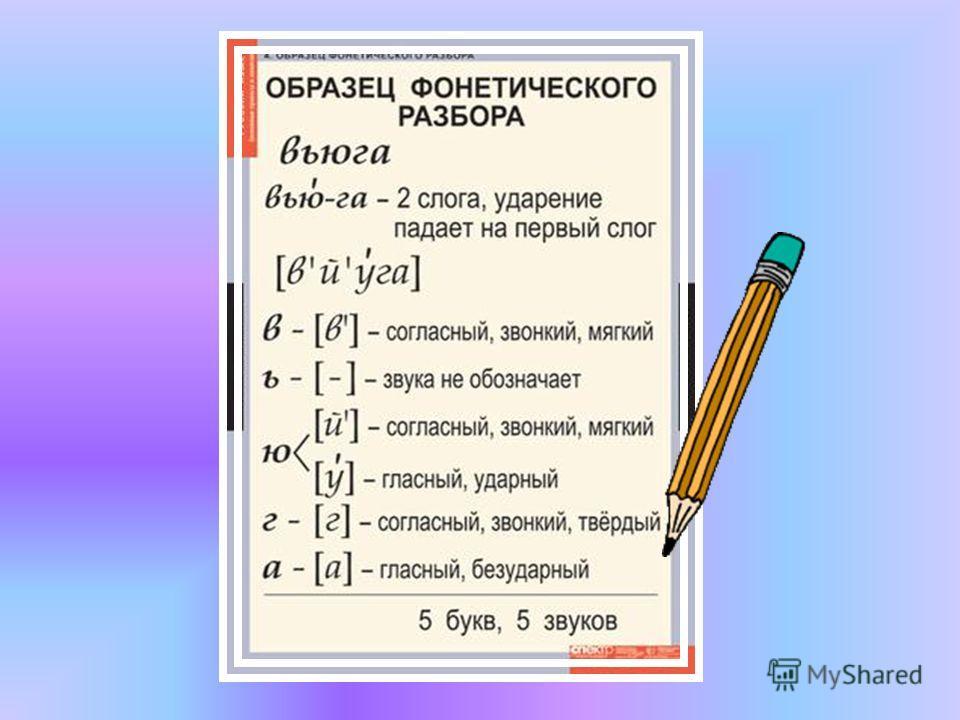 Как сделать фонетический разбор слова ней 788
