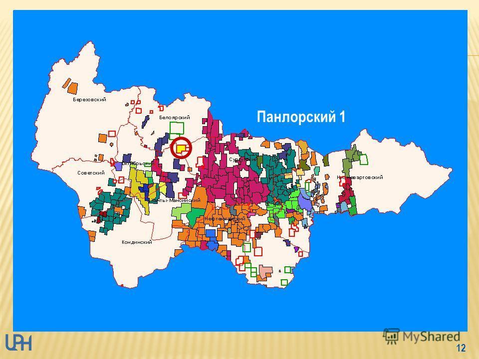 11 - магистральный нефтепровод - 218 км - Белоярский район ХМАО-Югры - Сергинский НГР Красноленинской НГО и частично к Казымскому ПНГР Фроловской НГО - пробурено 3 скв (все ликвидированы) - плотность сейсмопрофилей - 0,57 км/км 2 С 3 – 6,692 млн.т. И