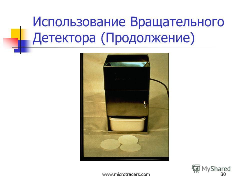 www.microtracers.com30 Использование Вращательного Детектора (Продолжение)