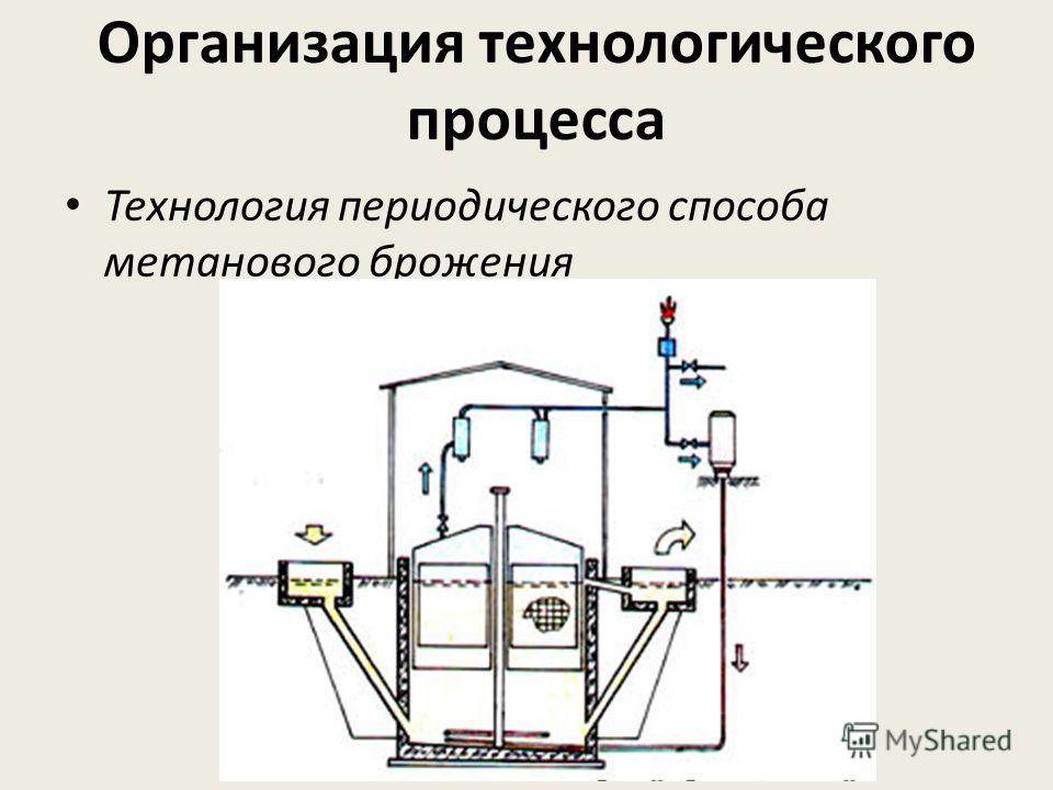 Технология периодического способа метанового брожения Организация технологического процесса
