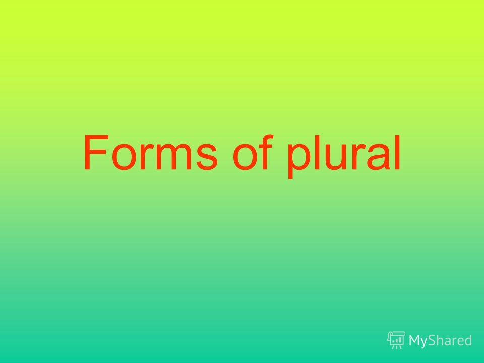 Forms of plural