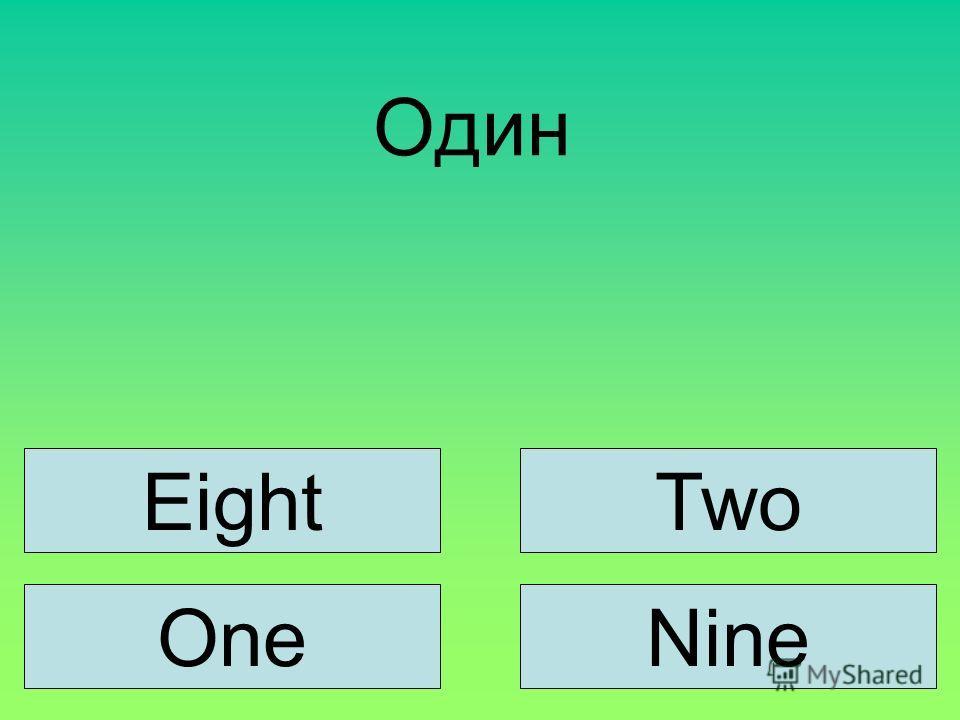 Один EightTwo OneNine