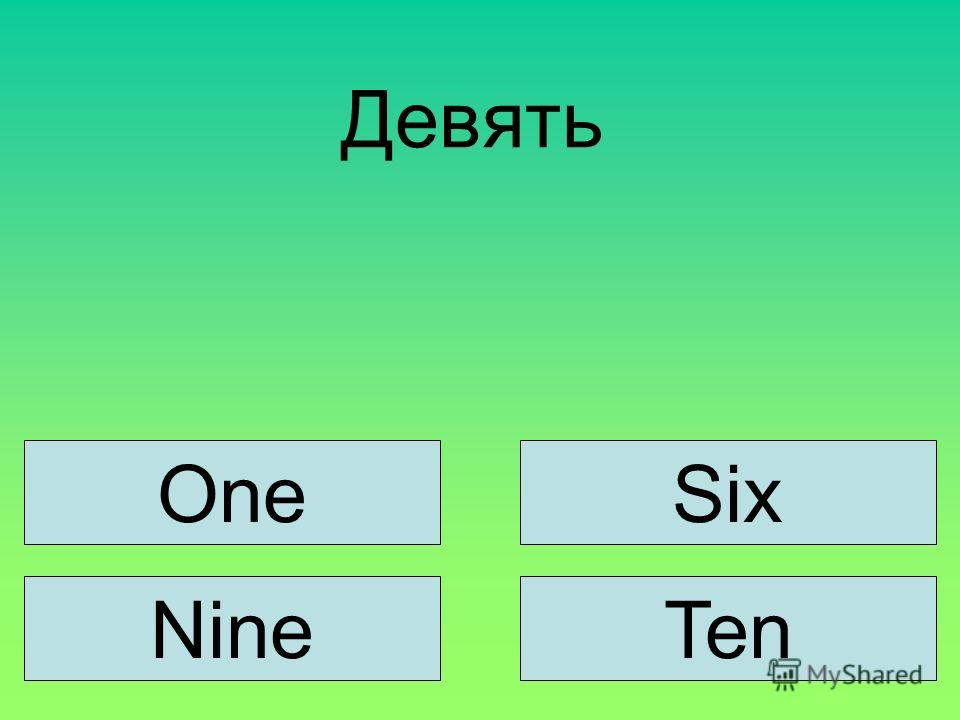 Девять SixOne NineTen