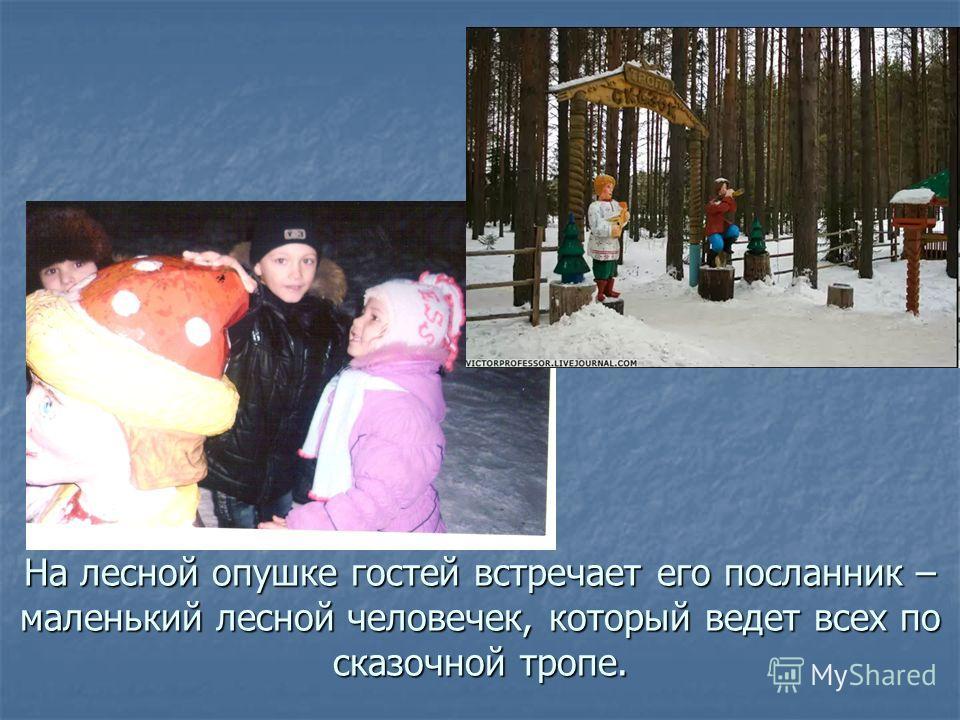 На лесной опушке гостей встречает его посланник – маленький лесной человечек, который ведет всех по сказочной тропе.