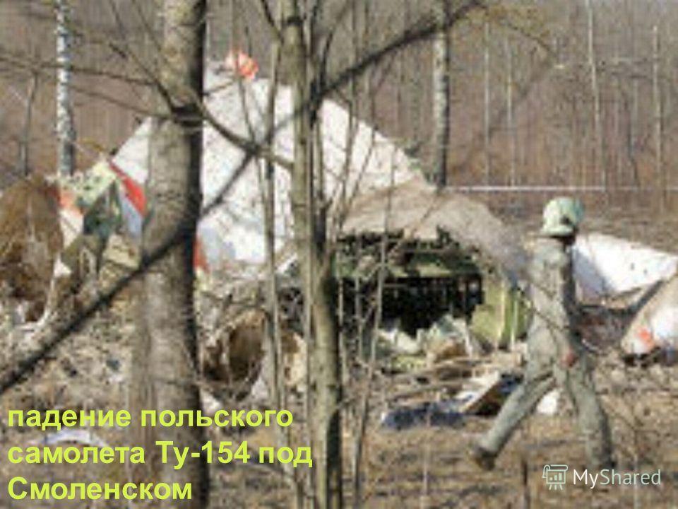 падение польского самолета Ту-154 под Смоленском