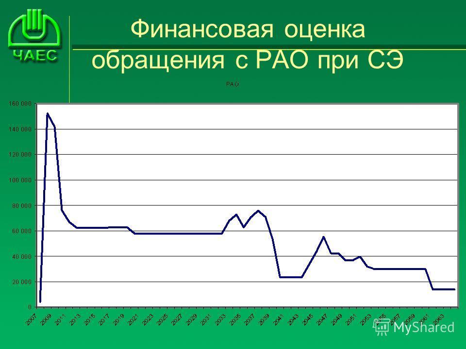 Финансовая оценка обращения с РАО при СЭ