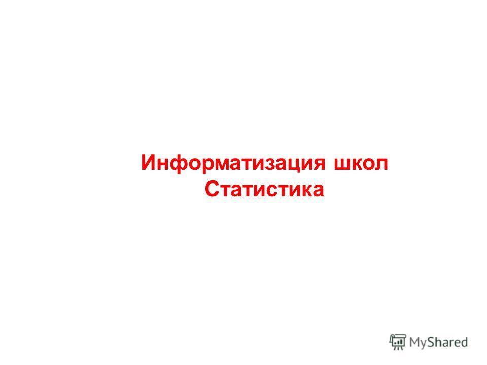 Информатизация школ Статистика