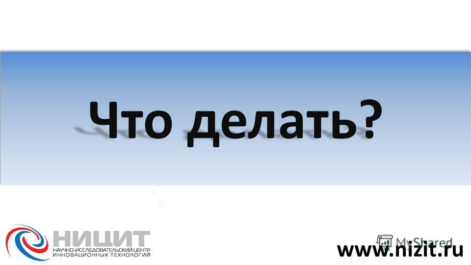 Что делать? www.nizit.ru