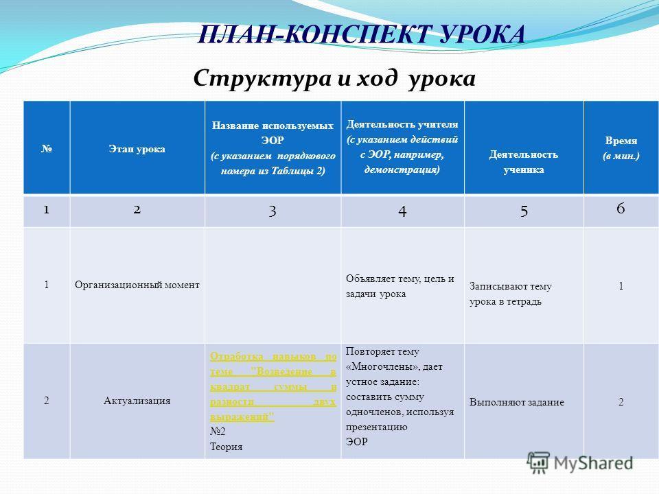План конспект урока математики в 3 классе с эор школа россии