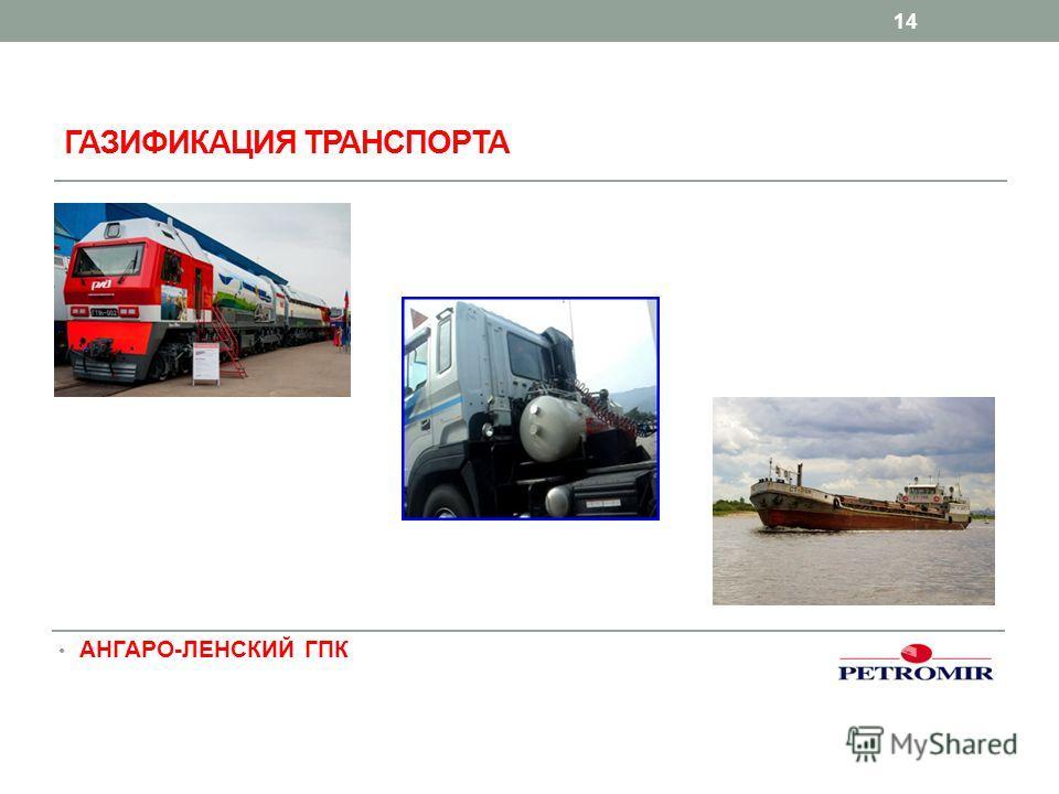 ГАЗИФИКАЦИЯ ТРАНСПОРТА 14 АНГАРО-ЛЕНСКИЙ ГПК