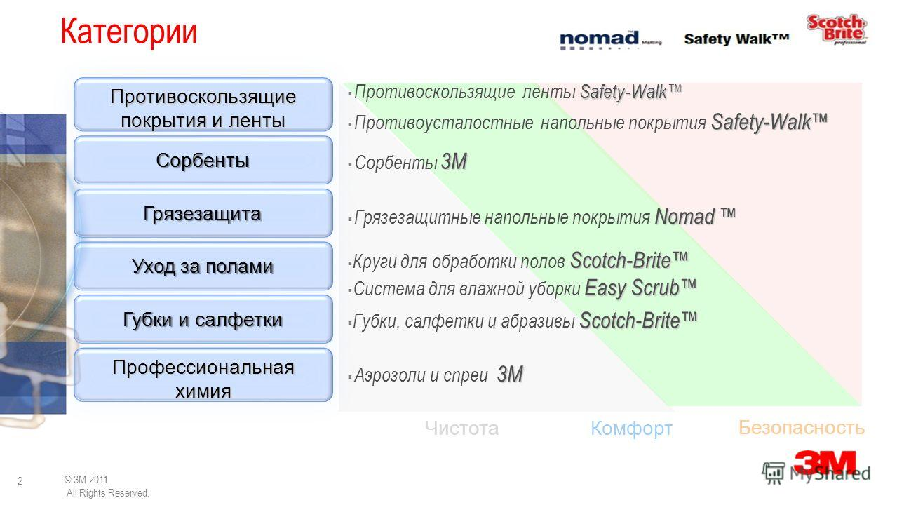 3M Building and Commercial Services Division Решения для обслуживания помещений и защиты зданий Protection for © 3M 2010. All Rights Reserved. WORK & LIFE Олег Лоцман +7 921 961 73 44 olotsman@3m.com