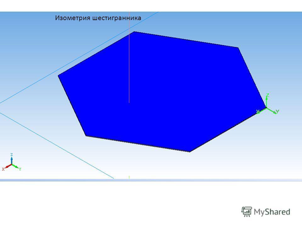 Изометрия шестигранника