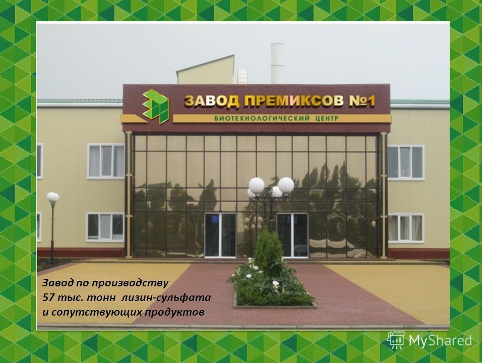Завод по производству 57 тыс. тонн лизин-сульфата и сопутствующих продуктов