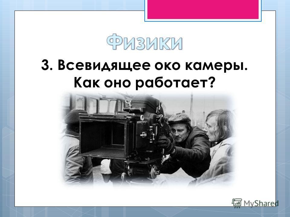 3. Всевидящее око камеры. Как оно работает?