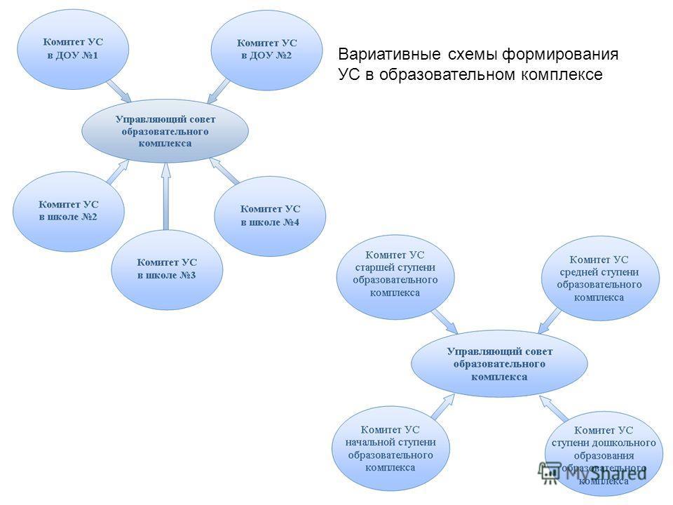 Вариативные схемы формирования УС в образовательном комплексе