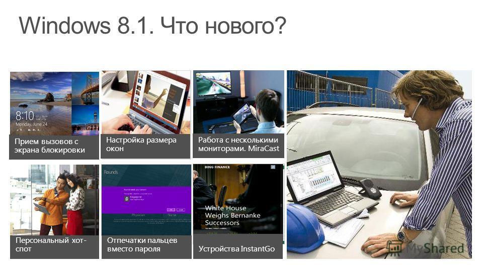 Персонализация Мобильность Улучшенный поиск Новый магазин WindowsМногозадачность Windows 8.1. Что нового? Кнопка «Пуск» Глубокая интеграция со SkyDrive Все приложения на начальном экране Улучшенная сенсорная клавиатура Автоматические обновления