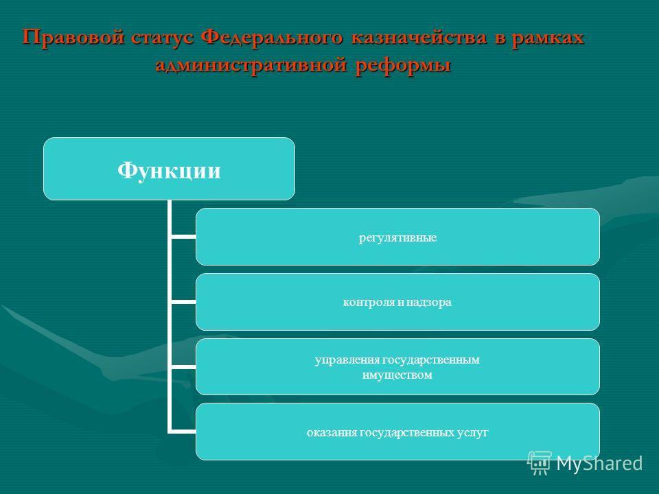 Правовой статус Федерального казначейства в рамках административной реформы
