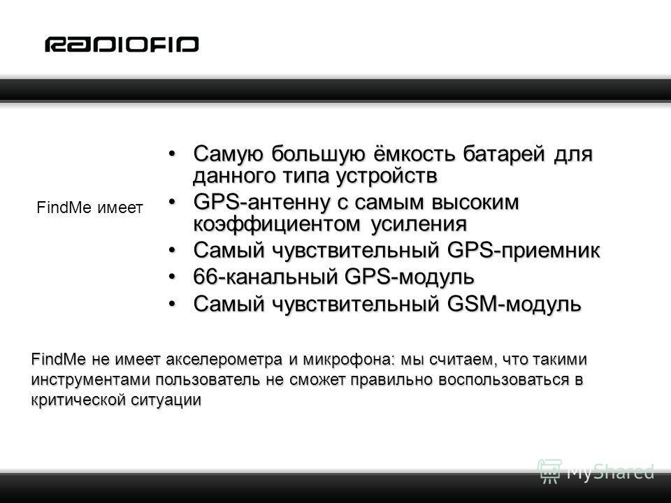 Самую большую ёмкость батарей для данного типа устройствСамую большую ёмкость батарей для данного типа устройств GPS-антенну с самым высоким коэффициентом усиленияGPS-антенну с самым высоким коэффициентом усиления Самый чувствительный GPS-приемникСам