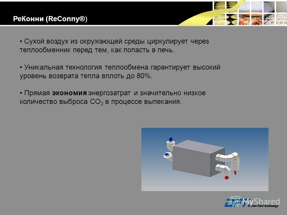 Сухой воздух из окружающей среды циркулирует через теплообменник перед тем, как попасть в печь. Уникальная технология теплообмена гарантирует высокий уровень возврата тепла вплоть до 80%. Прямая экономия энергозатрат и значительно низкое количество в