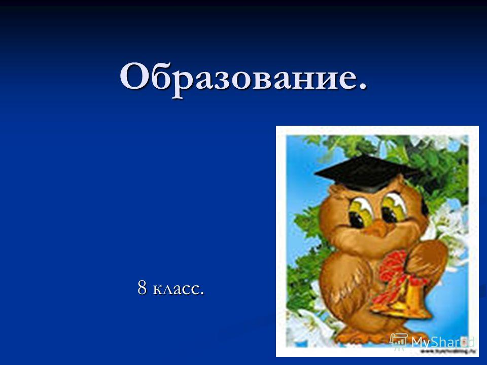 Образование. 8 класс.