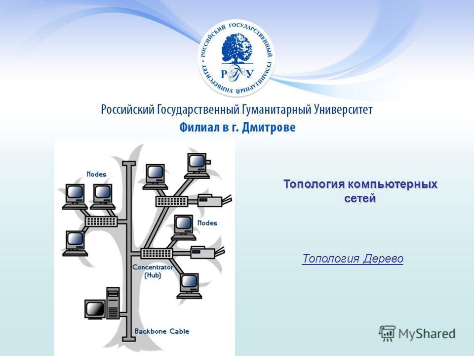Топология компьютерных сетей Топология Дерево