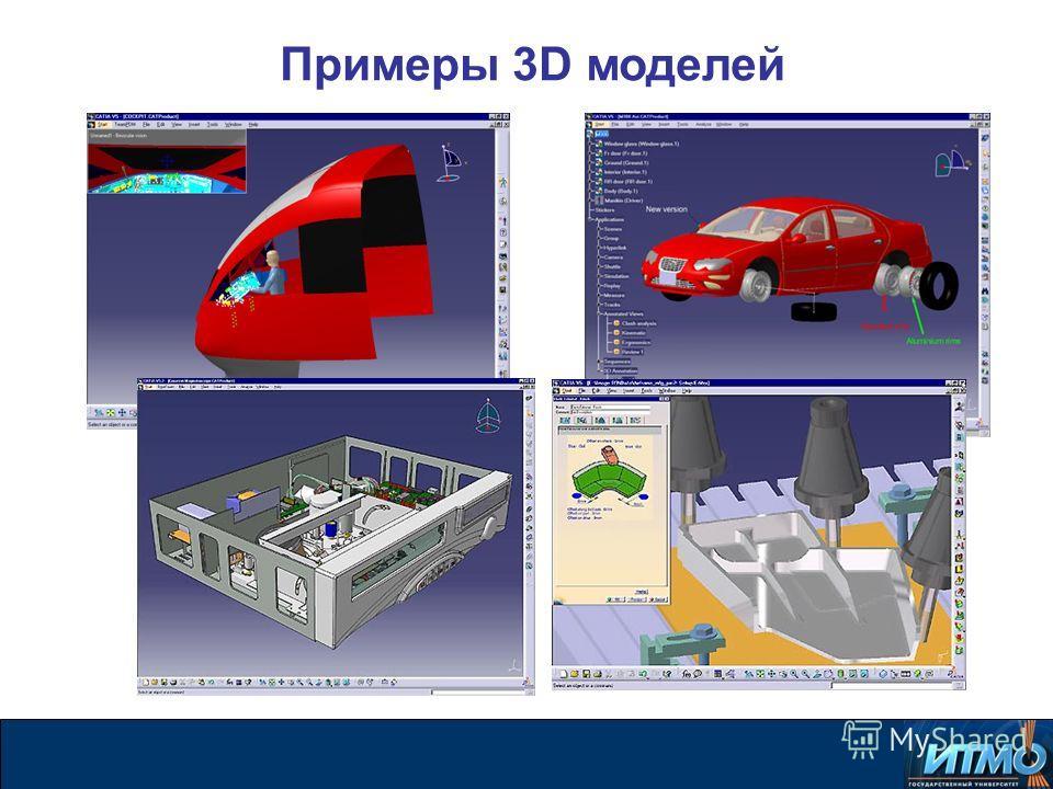 Примеры 3D моделей