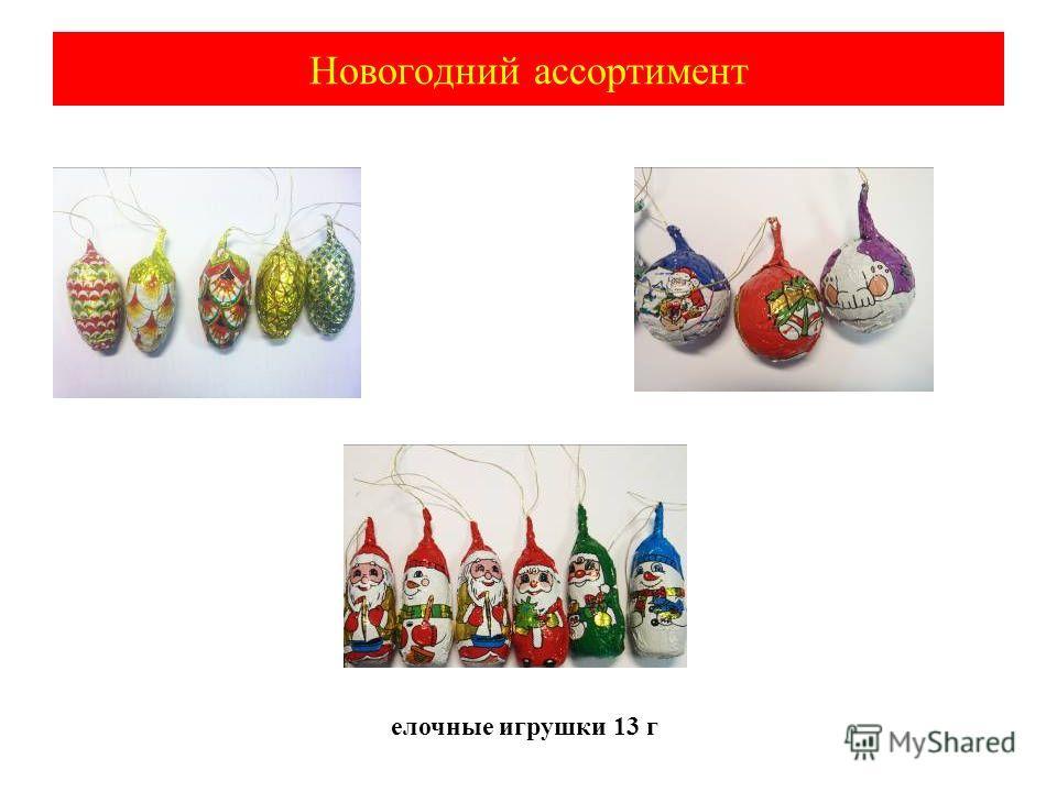 Новогодний ассортимент елочные игрушки 13 г